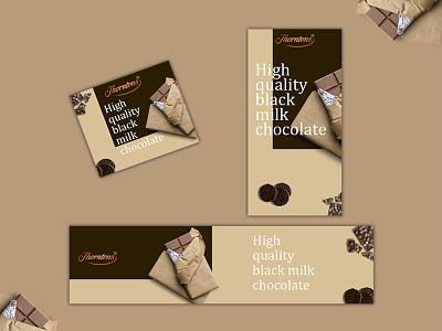 Chocolate shop banner set web design banner ads banner ads design design webdesign banner ads ads banner ad adobe photoshop