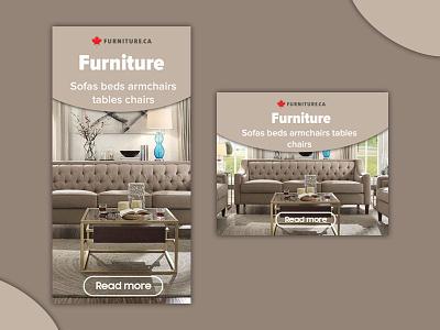 Furniture store banner set web design photoshop design ads banner ads ads design webdesign ads banner banner ad adobe photoshop