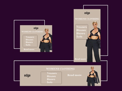 Set of banners for womens clothing store banner webdesign photoshop banner ads web design ads design ads ads banner banner ad adobe photoshop