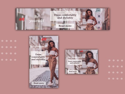 Clothing store banner set web design photoshop design banner ads ads design webdesign ads ads banner banner ad adobe photoshop