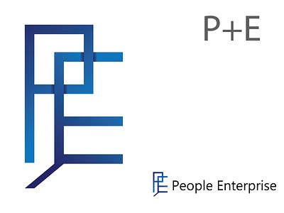 P+E Logo logo designs logo design branding brand identity logo logo designer logo design