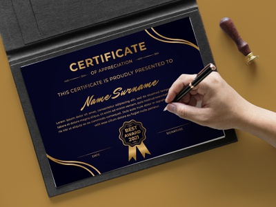 Abstract modern creative certificate of appreciation template luxury creative gold success appreciation print modern graduation achievement diploma certificate award elegant