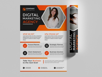Creative modern digital marketing agency business flyer template brochure sale agency square flyer social media banner social advertising technology advertisement leaflet infographics geometric ads banner special offer business agency business background advertising banner print service professional