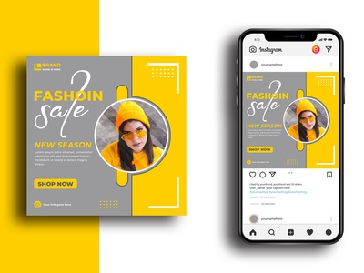 Modern Fashion Sale Social Media Post Template Square Banner For marketing flyer color flyer template brochure template letter artistic woman template vector geometric design cover document minimal presentation paper layout background annual