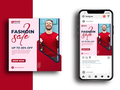 Modern Fashion Sale Social Media Post Template fashion design fashion business marketing social flyer abstract media banner post advertising modern facebook post