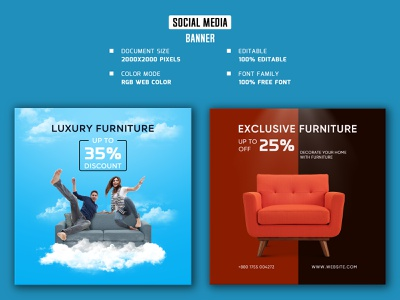Furniture social media banner and post, design facebook post social media banner and post web stories square social media banner social media poster web post web banner social media stories social media post social media banner