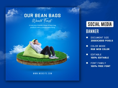 bean bags social media banner and post social media banner and post web stories square social media banner social media poster web post web banner facebook cover facebook banner facebook stories facebook post instagram post social media stories social media post social media banner bean bags