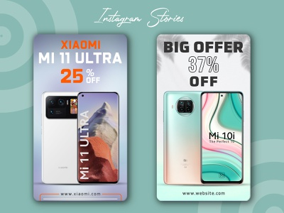 smartphone social media post and banner design