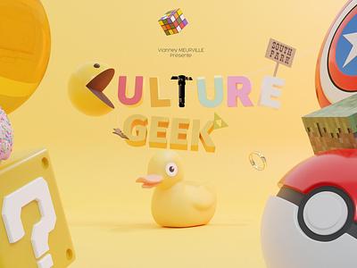 Culture Geek Poster. art poster culturegeek geek blender3d blender 3d modeling 3d blender 3d art 3d design