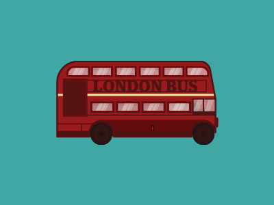 London Bus road bus illustration london