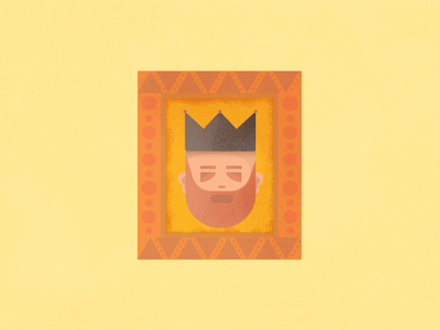 King of frame lshazly illustration frame king