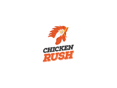 Chicken Rush By Lshazly coco logodesign rush chicken logo