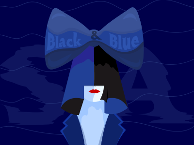 Sia Black & Blue lshazly illustration song blue black sia
