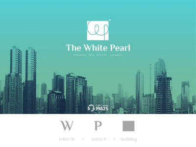 The White Pearl real estate lshazly concept inspiration logodesign logo pearl white realestate estate real