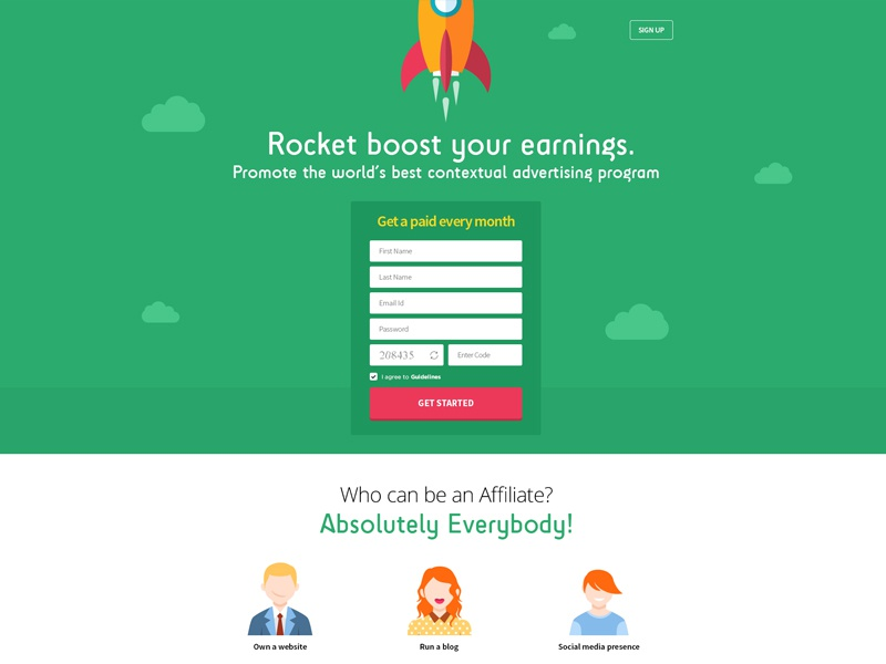 Landingpage Design for Affiliate Marketing by Pooja ...