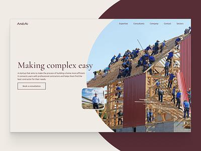 Andai design concept hero section website ui ux ui web design landing page hero