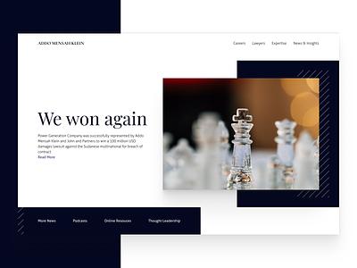 Addo Mensah Klein concept design hero section ui website ui ux web design landing page hero law firm