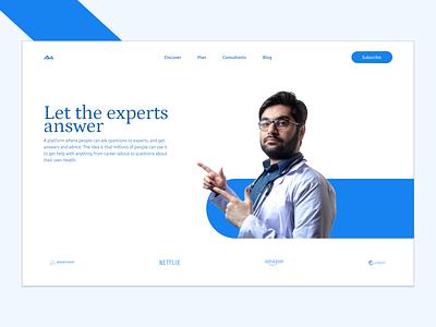 Ask Away hero section branding website ui web design landing page hero concept