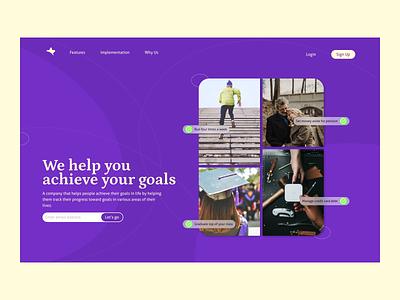 Scores concept hero section website ui web design landing page hero