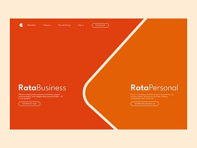 Rata saas logo design hero section website ui web design landing page hero