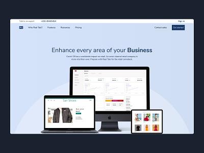 Real Tale software inventory saas logo design hero section ui website web design landing page hero
