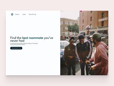Find Mates saas design hero section website ui web design landing page hero