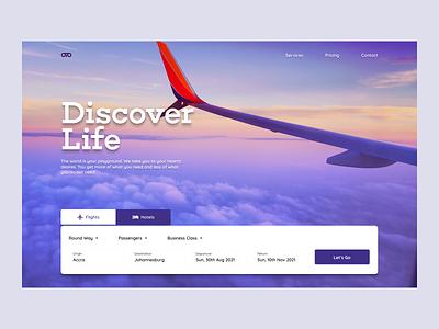 Letz Go - Travel Landing Page concept travel design hero section website ui web design landing page hero
