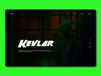 Kevlar concept hero section website ui web design landing page hero