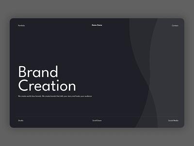 Zamo Zamo studio concept design hero section ui website web design landing page hero