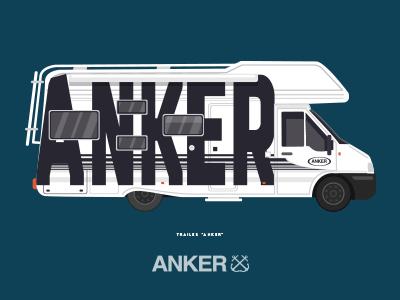 Anker anker illustration surfer project poster flat design artist