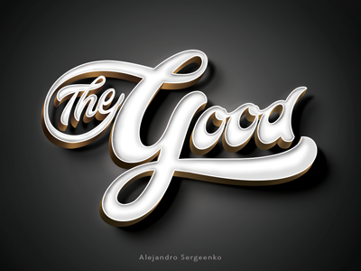 The Good  calligraphy artist design print font type logotype lettering
