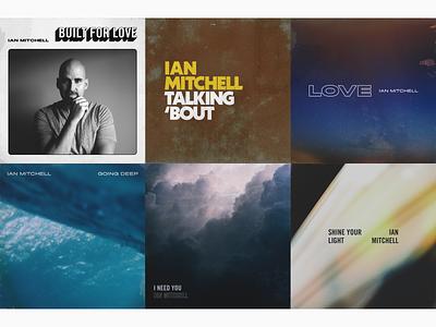 Ian Mitchell - Singles typogaphy cover single artist