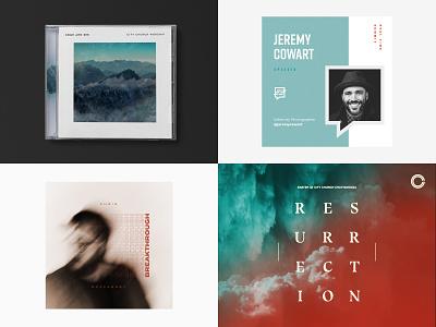 Top 4 of 2018 packaging album art music composite series brand church minimal type mark logo typography
