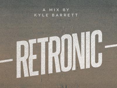 Retronic typography designers.mx cover novecento texture steelfish