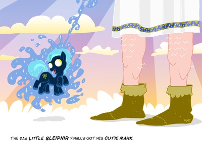 Little Sleipnir and the day he got his cutie mark mlp mylittlepony tribute fanart meanwhiles evejay