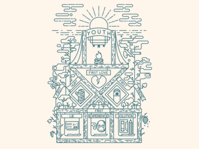 Youth youth line flat illustration ai vector things oldstuff