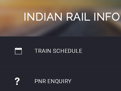 Left sidebar for mobile app mobile app ios android ionic train info