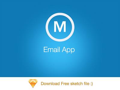 Mail App By Bootstrapguru - free sketch file  android iphone ios email app blue sketch 3 mail sketch