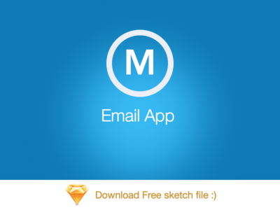 Mail App By Bootstrapguru - free sketch file  android iphone ios email app blue sketch 3 mail sketch