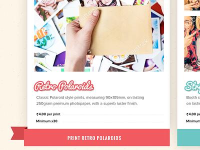 Printagram Home Page strip photos polaroid photo order classic retro photos