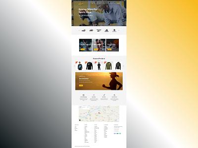 Sports Active Website web development website design ui  ux