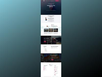 Dongpa Logistics web design web development website design ui  ux