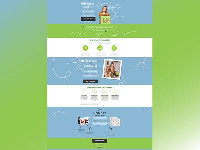Hello Fresh web design website design web development ui  ux