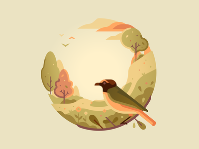 Q bird nature letter type 36daysoftype color illustration