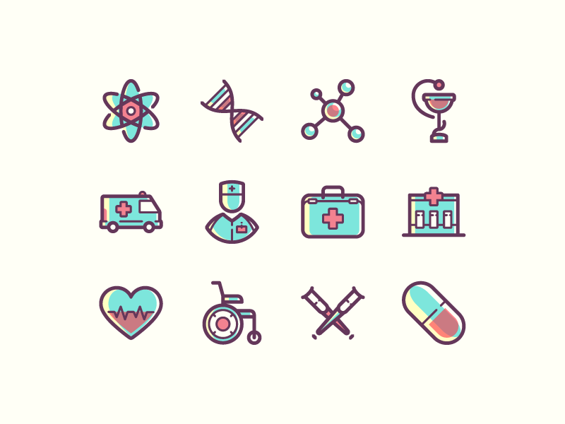 Free medical icons icons line color free medicine