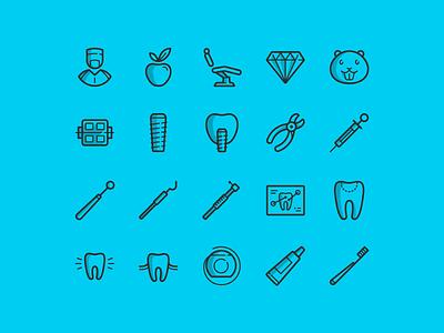 20 free dental icons medicine icons free line