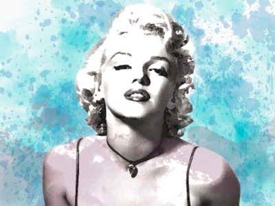 Marilyn Monroe Aquarell photoediting aquarell