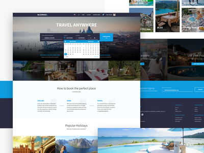 Book the perfect place - Homepage web ux ui slovenia tourism nature digital minimal material accomodation booking travel
