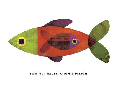 Two Fish Spot Illustration