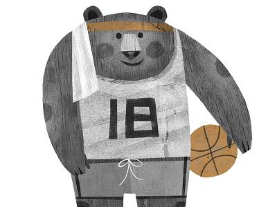 Day 2: Basketball Bear childrens books basketball bear illustration